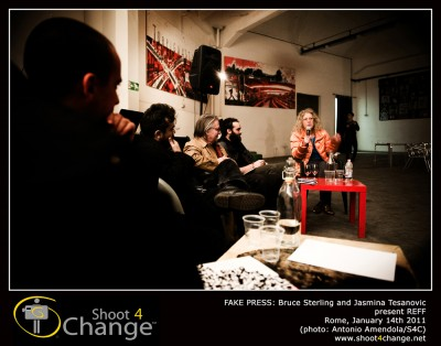REFF in Rome with Bruce Sterling, Jasmina Tesanovic, pictures by Shoot4Change