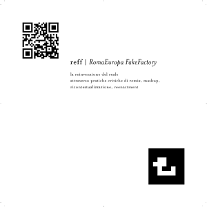 REFF, RomaEuropaFakeFactory on GooglePlay