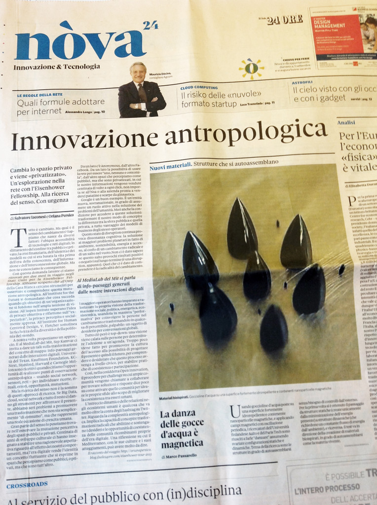 Anthropological Innovation of il Sole24Ore
