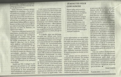 La Cura on Le Monde