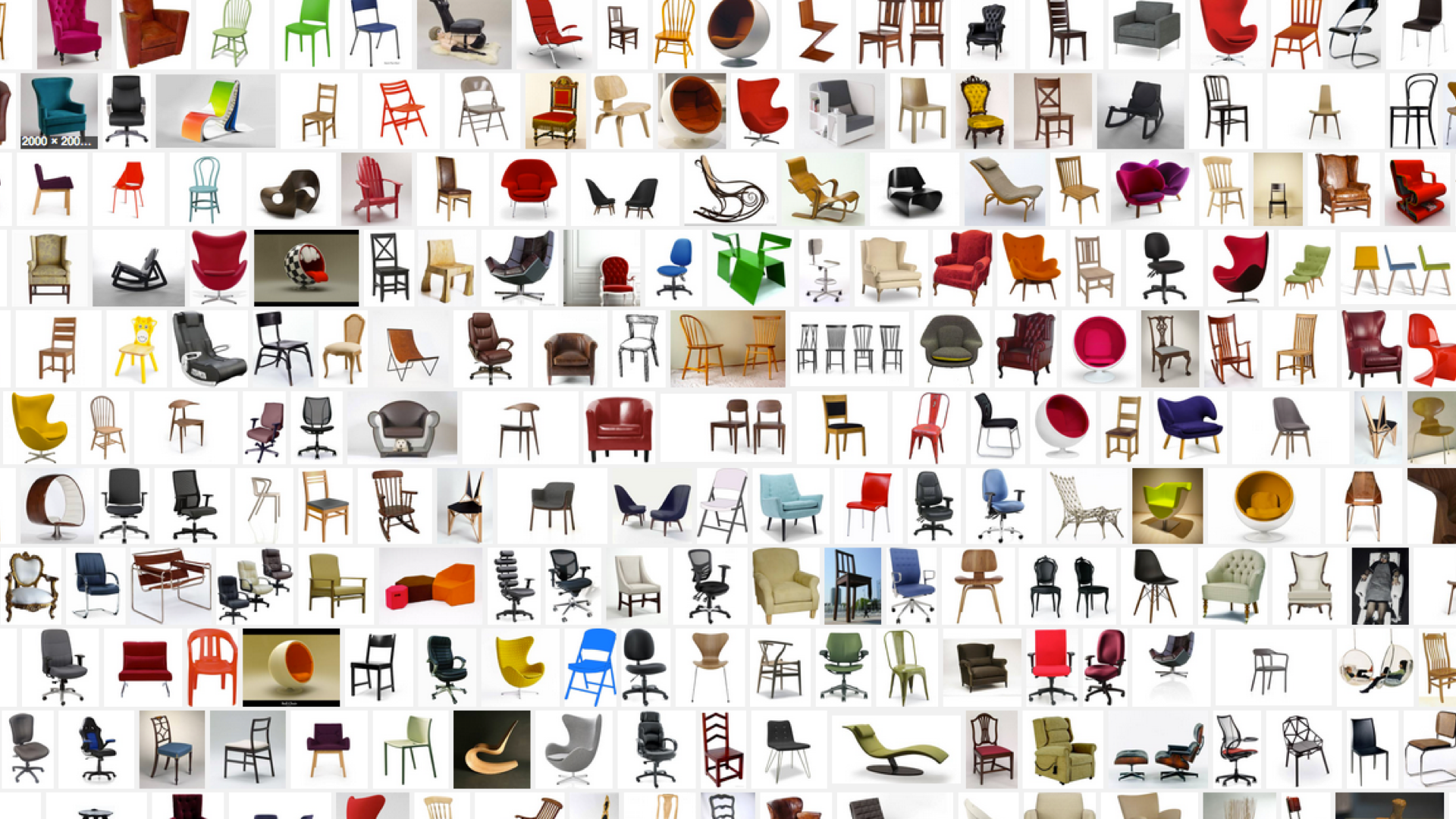 lots of different chairs