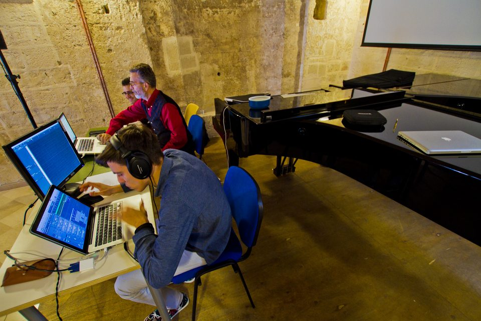U-Topia, Materelettrica working on the soundtrac, Conservatorio E. Duni (Matera)