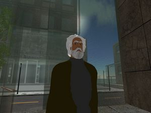 Karl Marx on Dead on Second Life