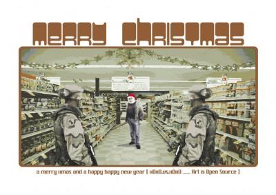 Santa Claus at the super market
