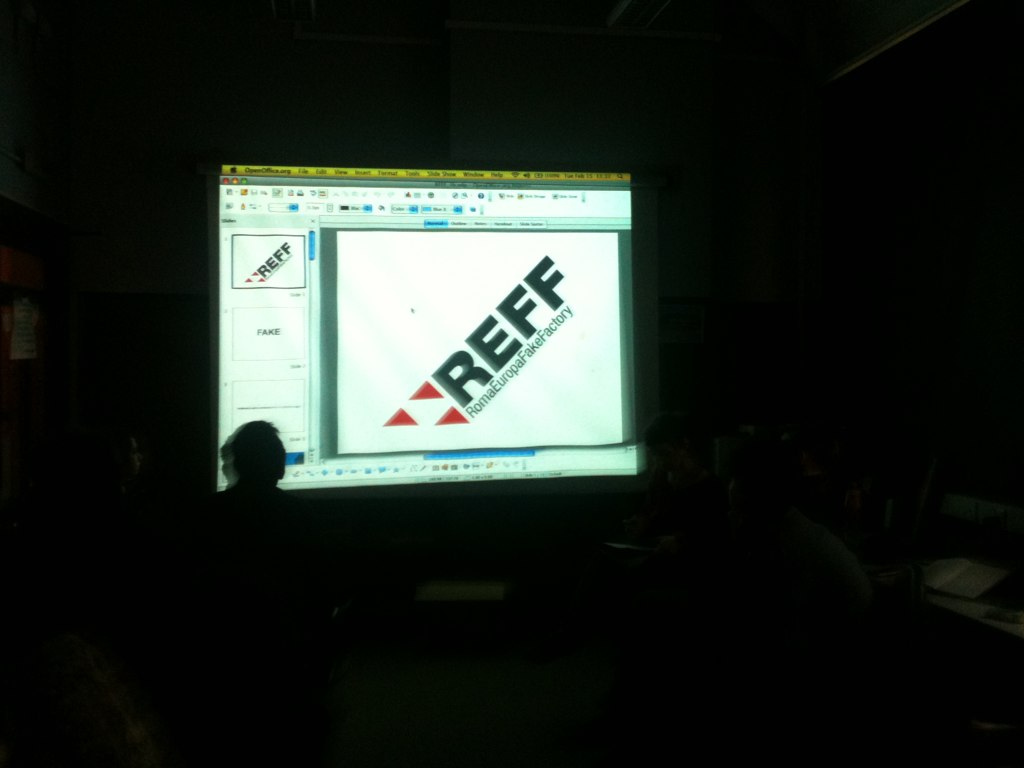 REFF at Goldsmiths University il London