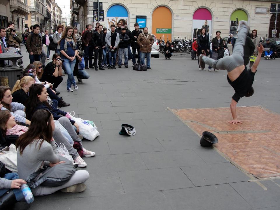 breakdancing in the street