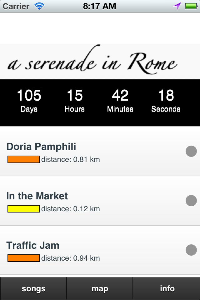 a Serenade in Rome, the tracklist