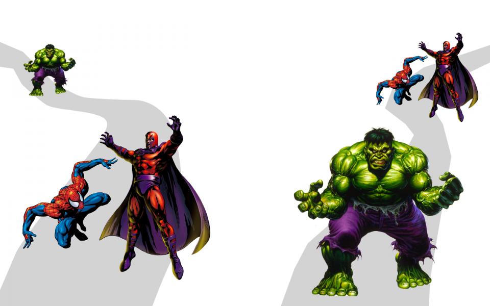 Spiderman and The Hulk