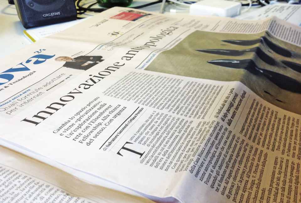 Anthropological Innovation on il Sole 24 Ore