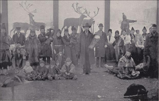 natives on exhibit at the Chicago World Fair