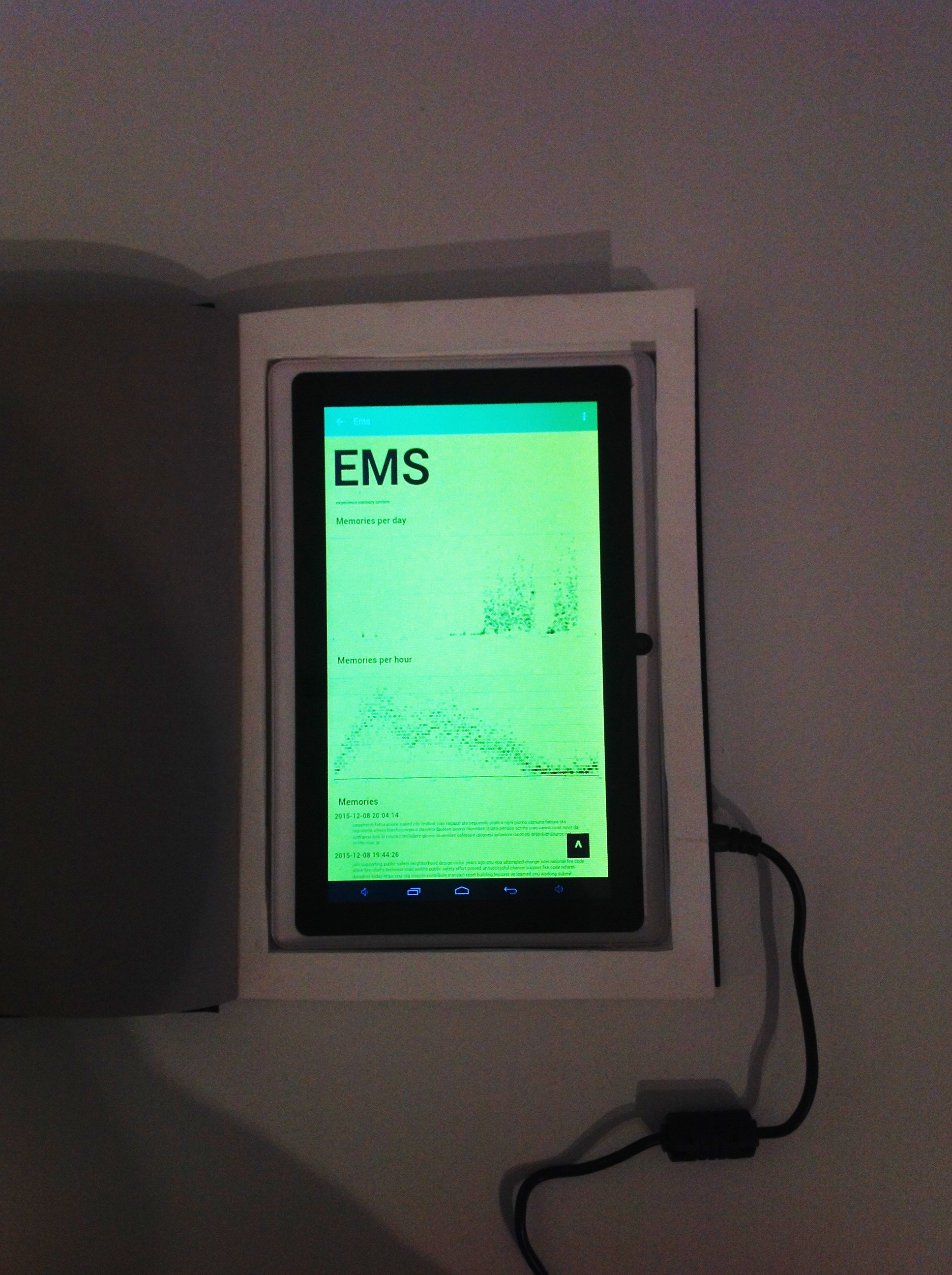 GhostWriter, the interface of the EMS