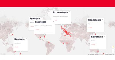 U-Topia Dictionary: the world map