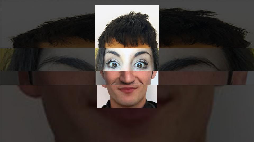 43^4 Remixing identities