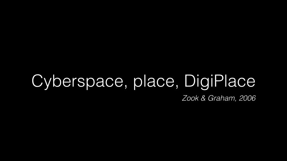 Kernos – cyberspace, place, digiplace